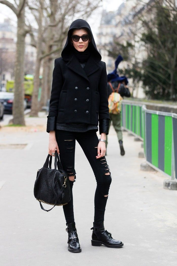 also hoodwinked today... #EwaWladymiruk looking well cool #offduty in Paris.