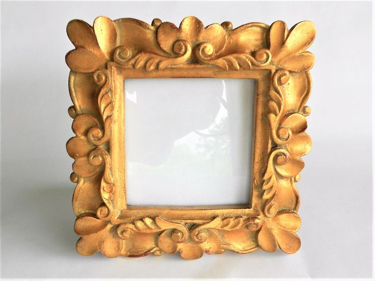 4 x 4, Square Picture Frame, Gold Photo Frame, Ornate Picture Frame,  Picture Frame, Decorative Photo Frame,Square Photo Frame, by GoldLeafGirl on Etsy