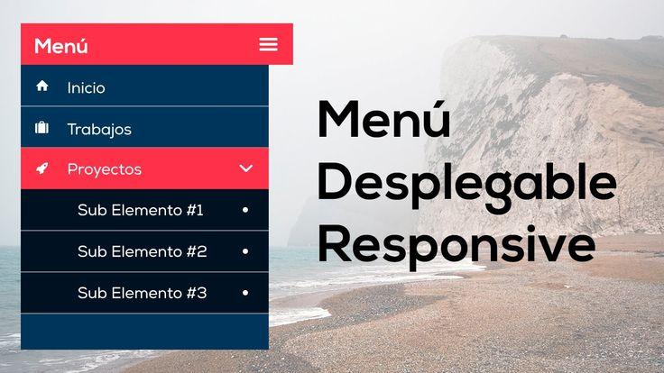 Como hacer un menú desplegable adaptado a dispositivos móviles (Responsi...