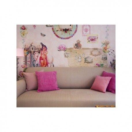 Mural Orient Express. Mural de papel pintado  inspirado en Oriente, el Taj Mahal, la flor de Lotto, este diseño te transporará a un mundo mágico. El mural se entrega en 6 paneles de 46.50 cm de ancho para su mejor colocación. Lavable,ignífugo y fácil de colocar. Gran calidad de las imágenes.