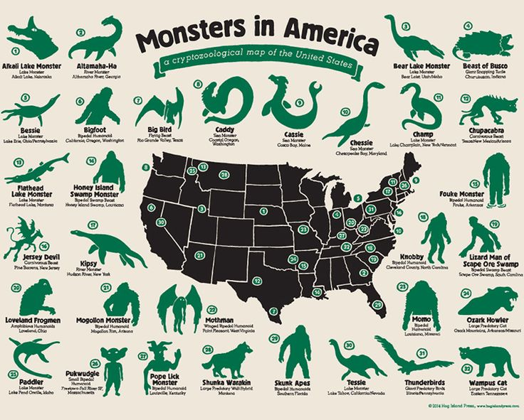 legendary monsters of the world | ... of the United States Featuring Legendary Creatures From Across America