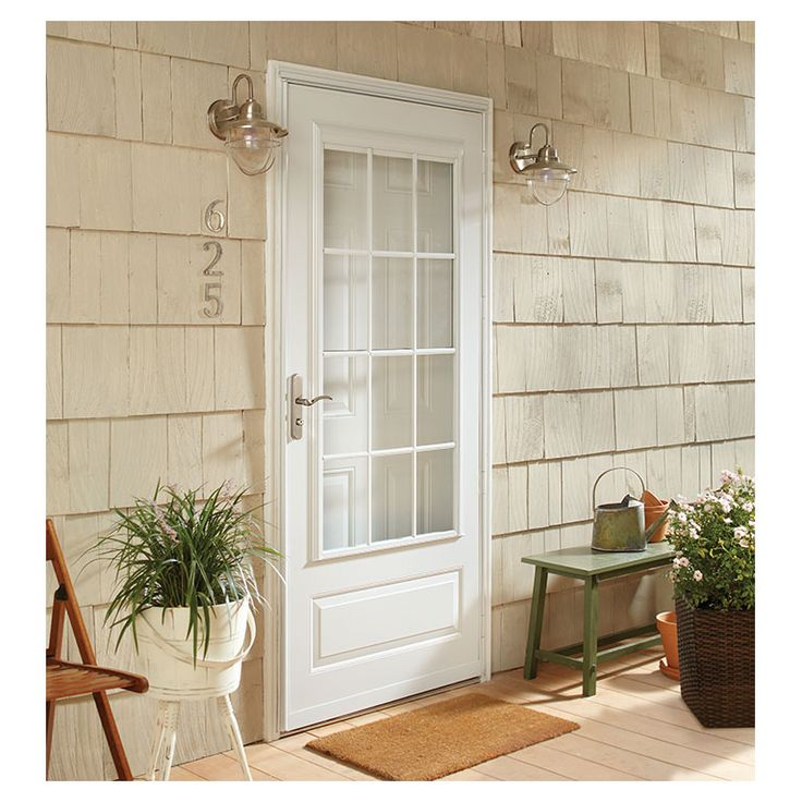 Top Self Storing Colonial Storm Doors | Andersen EMCO 400 ...