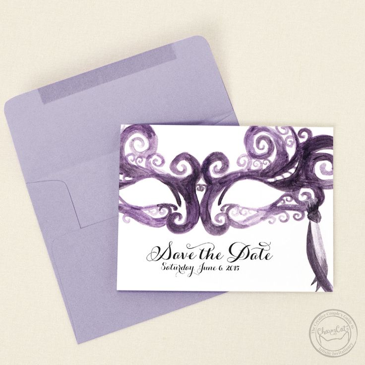 keralwedding card wordings in english%0A Have fun in style with these painted masquerade save the date cards  Any  color