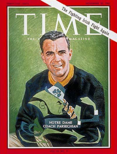 Ara Parseghian | Nov. 20, 1964 Notre Dame football coach Ara Parseghian.