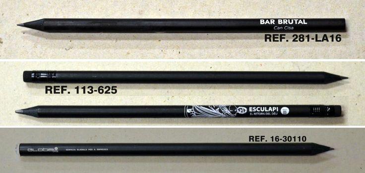 Lápices de madera negra para Personalizar con tu Logo#ESCRITURA #LAPIZ #PROMOCIONAL #PUBLICITARIO