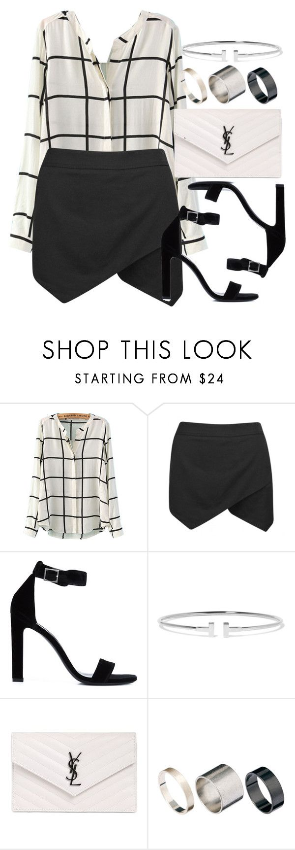 """""""Style #10919"""" by vany-alvarado ❤ liked on Polyvore featuring Yves Saint Laurent, Tiffany & Co. and Just Acces"""