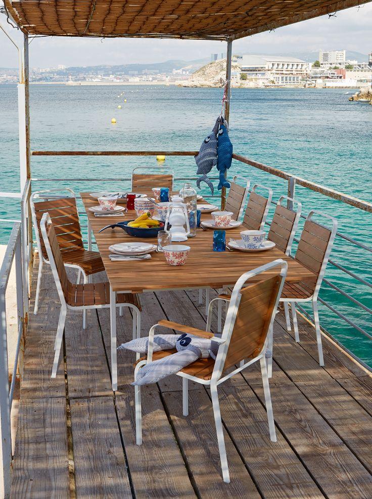 La table en eucalyptus EXTENSO - Alinéa - Jeu concours Pinterest - A gagner : 500€ en bons d'achat ! Jouez sur : https://www.pinterest.com/alinea/jeu-en-exterieur/