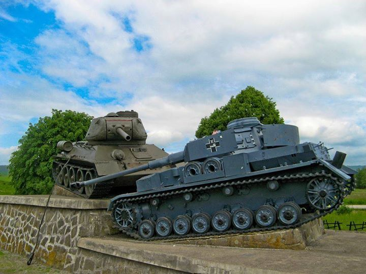 One of the memorials of the Dukla Pass battle of 1944. This one commemorates a major tank battle in the Valley of Death
