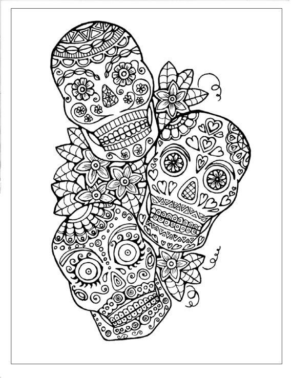 276 best ✐Adult Colouring~Sugar Skulls~Day of the Dead ✐ images on ...
