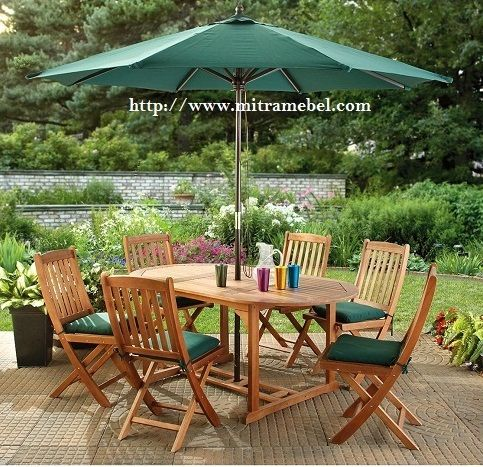 Set Meja Payung Santai Outdoor desain furniture outdoor teak jepara harga furniture outdoor murah, harga lounger teak, harga meja payung, jual furniture payung, teak umbrella, furniture umbrella, jual furniture payung, price furniture umbrella