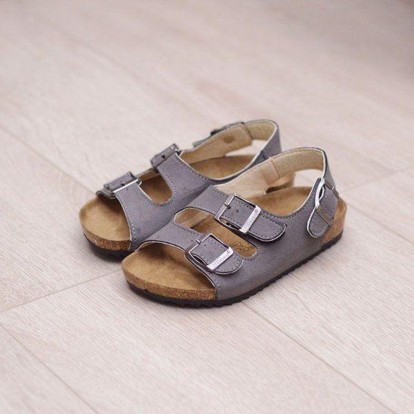 Unisex Kids Casual Flip Flops Softwood Beach Sandals