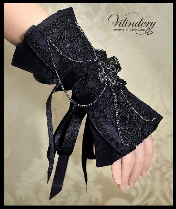 Beautiful Gothic Victorian Cuff Bracelet Lolita by Vilindery, $29.00