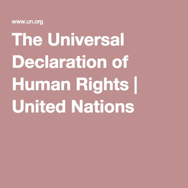 an overview of the declaration of human rights by the united nations Universal declaration of human rights (summary) adopted by the united nations on december 10 th 1948 excerpts from the international bill of rights, fact sheet #2, un centre for human rights:.