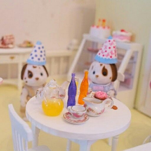 Dollhouse party, Sylvanian