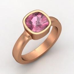 Vahagan Ring, Cushion Pink Tourmaline Rose Gold Ring from Gemvara