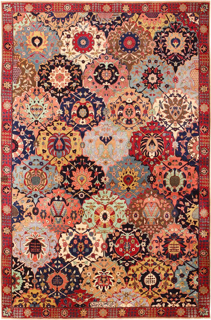 121 best Antique Tabriz Rugs images on Pinterest
