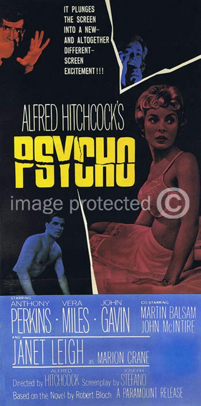 Vintage Movie Posters | Psycho Vintage Movie Poster