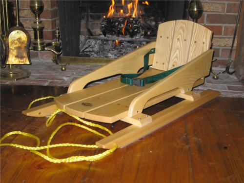 The original New England Baby Bogg'n wooden baby sled