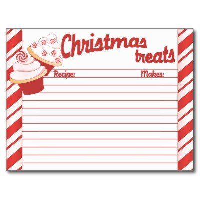 29 best Recipe cards images on Pinterest Printable recipe cards - christmas card word template