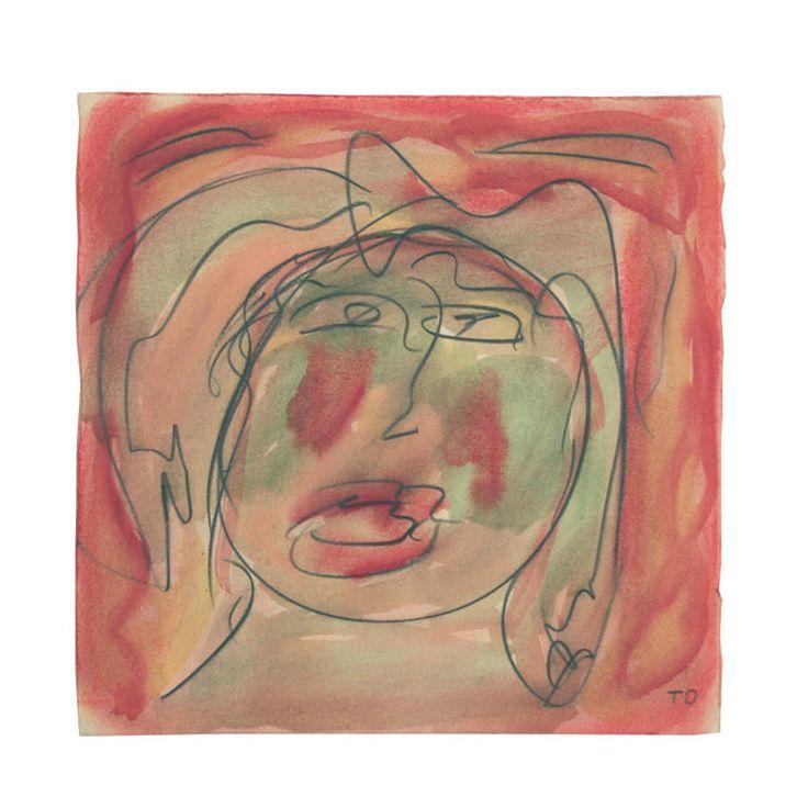 Thornton Dial Sr (b.1928-) | Moon Faced Lady | Outsider Folk Art Gallery http://bit.ly/zPdwBH