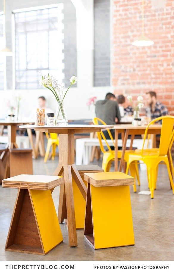 Statement yellow designer chairs | Superette | Photo: @Amanda Snelson Drost