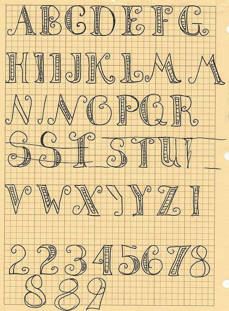 Creative handwriting alphabet