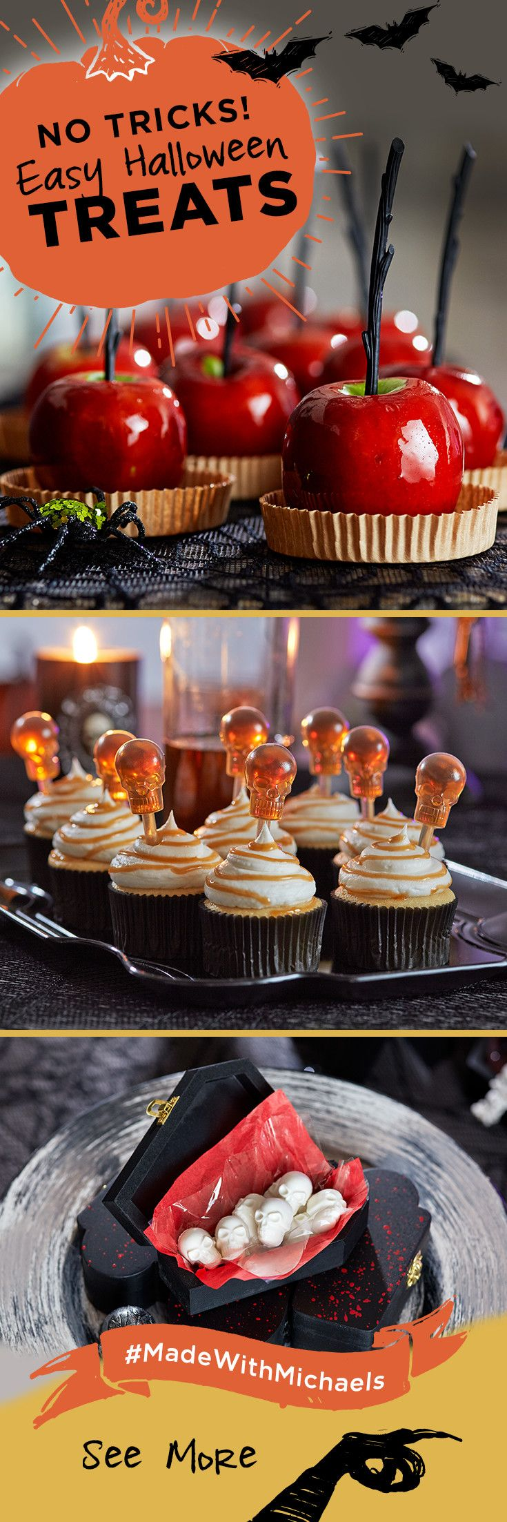 these easy to make halloween treats are sure to be a hit at your halloween party learn how to make these treats and get even more ideas at michaels - Michaels Halloween Decorations