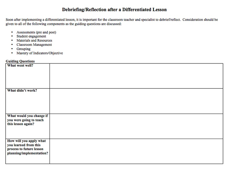 18 best school lesson plan and newsletter templates images for Lesson plan template for differentiated instruction