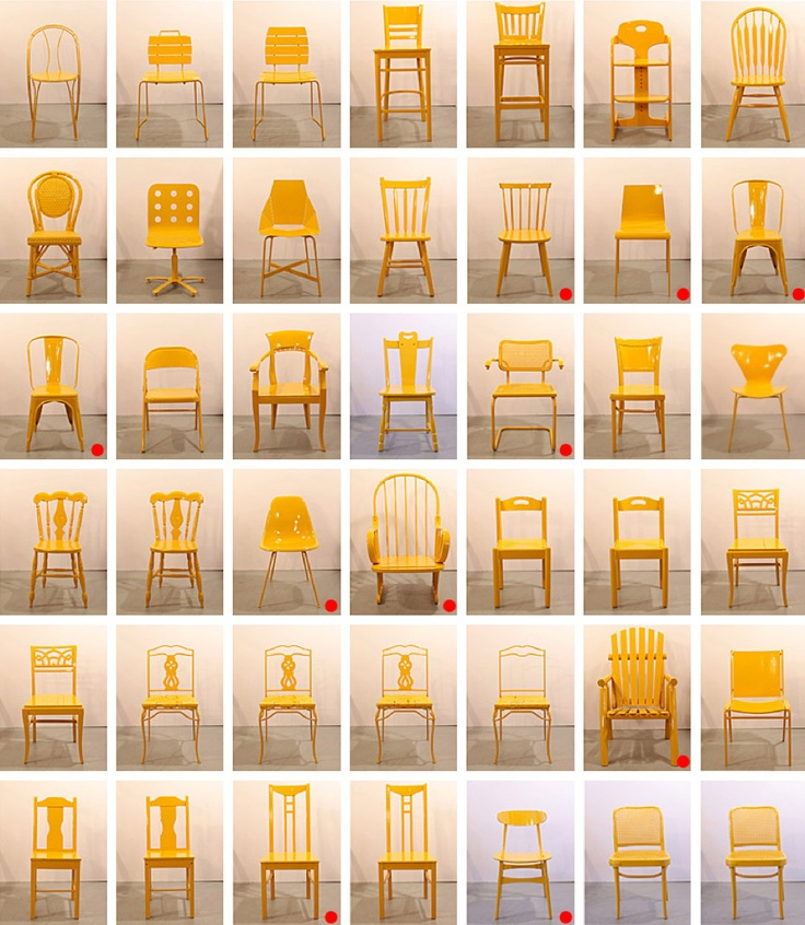 Street Seats Is A Furniture Project Developed By Bade Stageberg Cox For The  Pier 94 Coffee Bar At The Armory Show. The 50 Chairs, Found Abandoned On  The ...