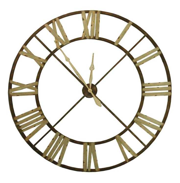 """French Country Large Rusted Iron Roman 48"""" D Wall Clock ..."""