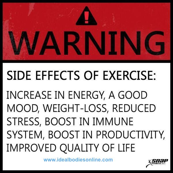 WARNING: Healthy Side Effects Possible! #motivation #fitspiration #health…