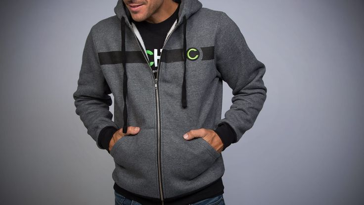 This mid-weight zip-up CHIVE-inspired hoodie from the Chivery labs bands a solid black bar across its chest, its cuffs and across the bottom.When you're running, think of them as racing stripes. When you're drinking, think of them as drinking stripes. When you're hungover and laying down, think of them as hungover-and-laying-down stripes.How Does It FitCustom cut and sewn to deliver a premium quality fit. Not too big or small, just right.Take Care of Your ShitMachine wash warm, inside out…