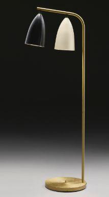 Popular An unusual double floor light of c by Greta Grossman Sold for