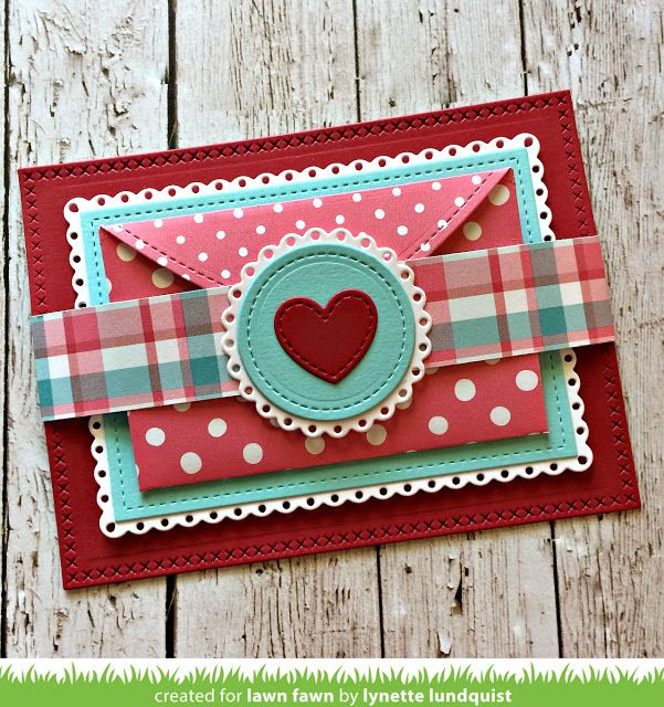 the Lawn Fawn blog: Lynette's Stitched Heart Envelope Fold-out Card