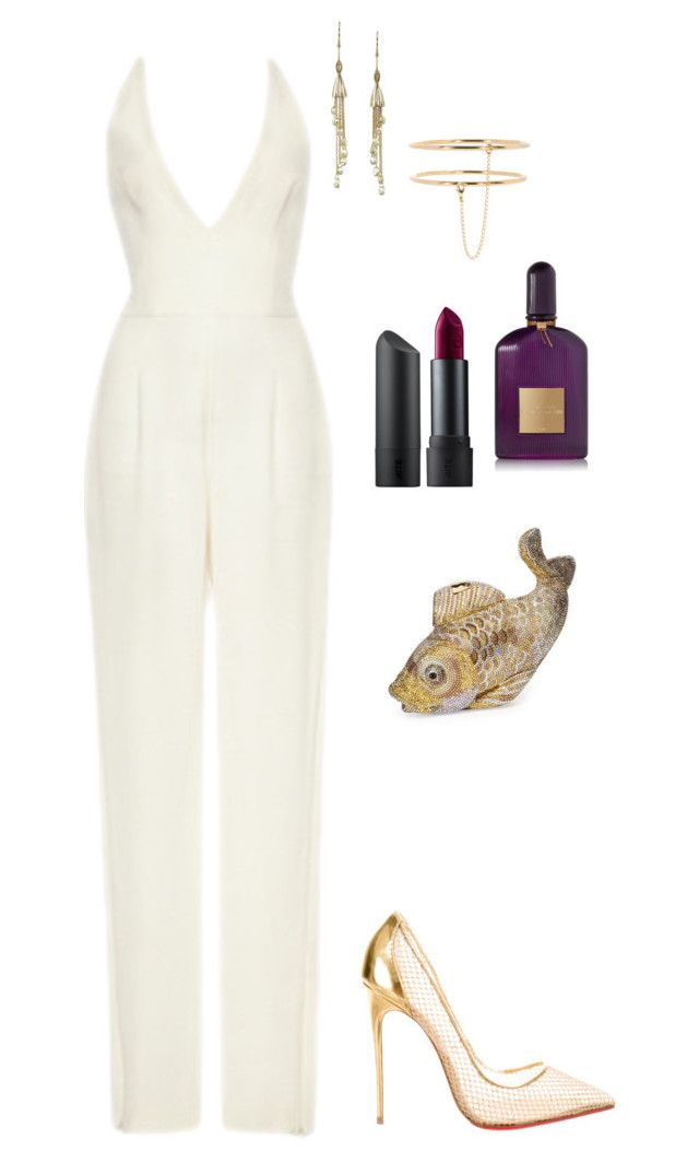 Untitled #2583 by janglin725 on Polyvore featuring polyvore fashion style Naeem Khan Christian Louboutin Judith Leiber STELLA McCARTNEY Michael Barin Bite Tom Ford clothing