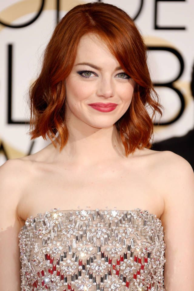 How to get Emma Stone's Golden Globe hair: