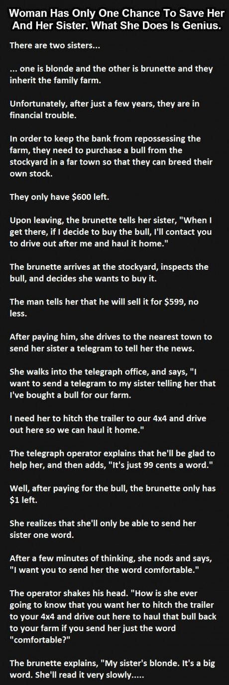 Woman Has Only One Chance To Save Her And Her Sister. What She Does Is Genius.