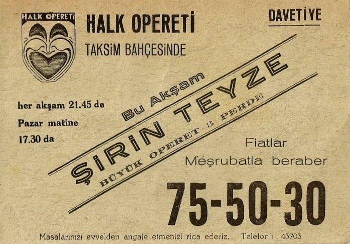 Halk OperetiTaksim Bahçesi'nde #istanbul #sanat #opera #Taksim #kültür #birzamanlar  #istanlook