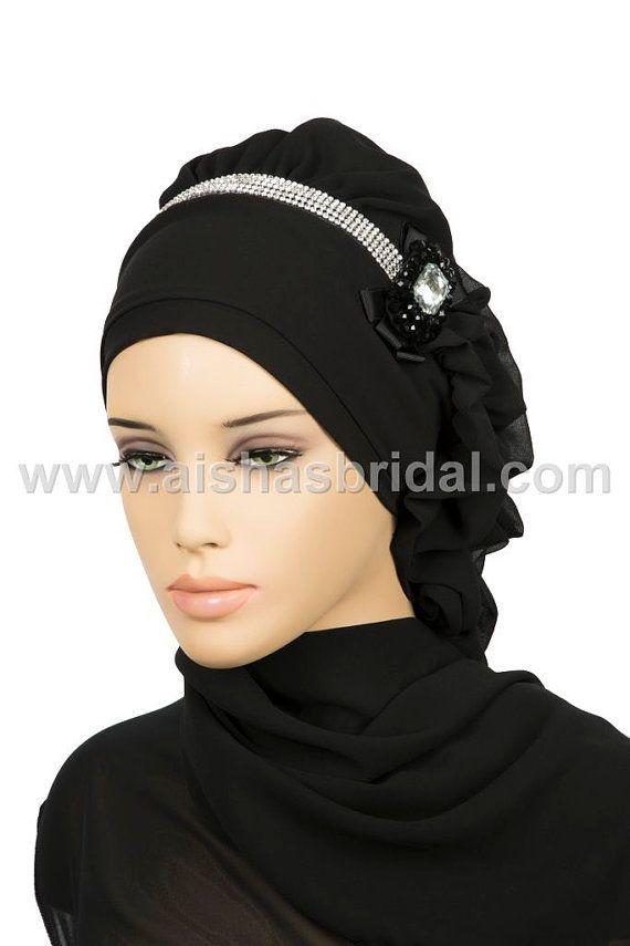 Ready To Wear Hijab  Code HT0150 by HAZIRTURBAN on Etsy, $36.00