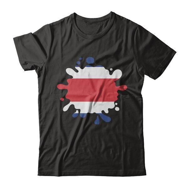 Super PANAMA Hearts Costa Rica Patriot Flag T Shirt