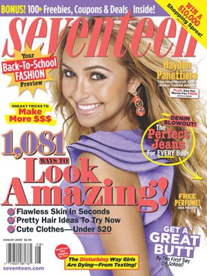 Hayden Panettiere wore purple on our August 2009 cover.