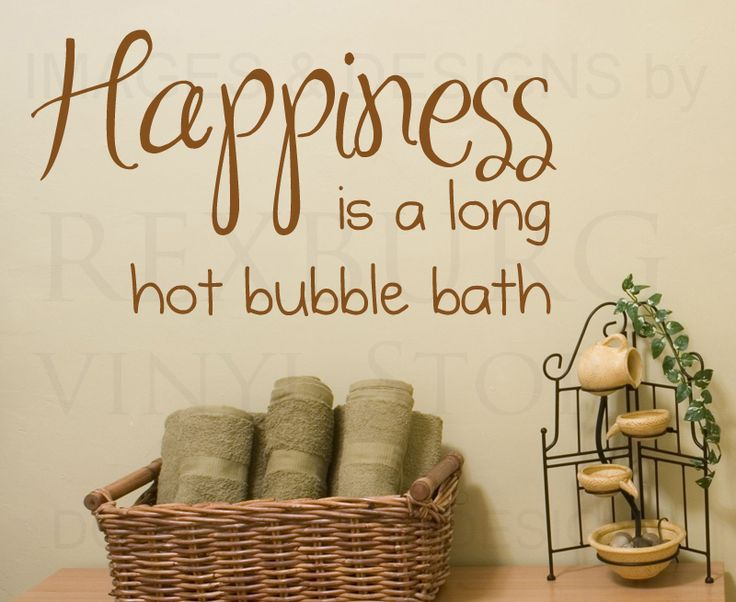 Best Bathroom Images On Pinterest - Custom vinyl wall decals sayings for bathroom
