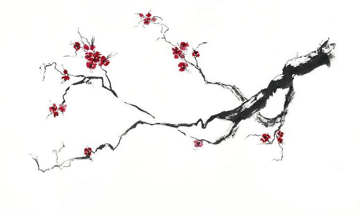 how to paint cherry blossom branch - Google Search