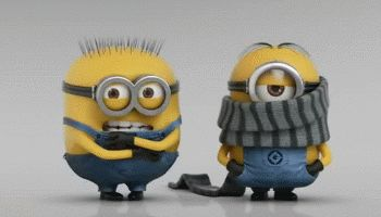Funny Minion GIF – So Cold