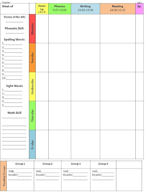 Customizable lesson plan template