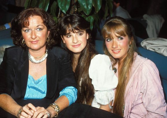 Kyle and Kim Richards with Their Mother, Sharon Kathleen Dugan.  Before she was married to Kenneth Richards, she was married to Lawrence Avanzino and they had a daughter, Kathy Avanzino. The eldest sister in the family, Kathy grew up and married Richard Hilton, and together they had four children—including Nicky and Paris Hilton.