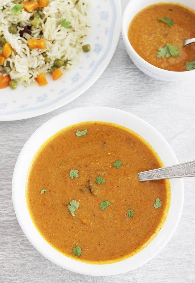 shorba or sherva recipe, a quick and easy veg side gravy for biryani, pulao. Learn to make shorba or sherva with step by step photos