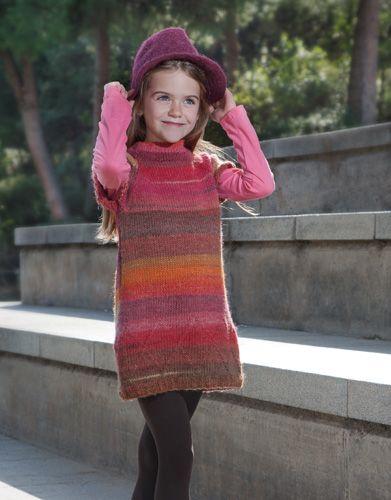 Tijdschrift Speciaal Azteca Fine 1 Herfst / Winter | 3: Kinderen Jurk | Oranje-Oker