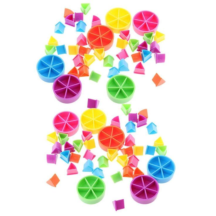 Pack/84pcs Trivial Pursuit Game Pieces Pie Wedges Parts for Math Fractions | eBay