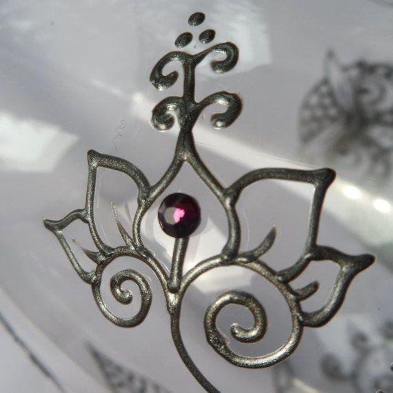 February Birthstone Swarovski crystal -add on genuine Swarovski crystals to your glassware in February birthstone color of Amethyst (purple)